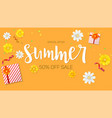 summer sale ad selling banner top view gift box vector image vector image