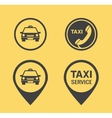 Taxi icons and Pointers vector image vector image