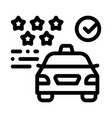 taxi service rating online icon vector image vector image