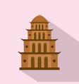 temple icon flat style vector image