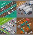 trucks isometric design concept vector image