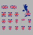 uk flag icon set british national flag icons vector image vector image
