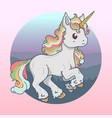 unicorn cute beautiful vector image