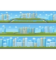 Urban landscape set with modern city vector image vector image