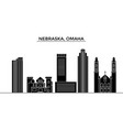 usa nebraska omaha architecture city vector image vector image