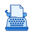 vintage typewriter line icon vector image