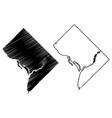 washington city map vector image