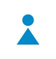 Woman Toilet icon vector image