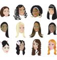 women faces vector image