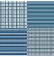 Checkered Seamless Blue vector image