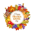 Thanksgiving Day decoration design vector image