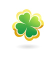 Clover with four leafs vector image