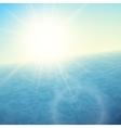 Sunset at sea horizon with summer sun vector image