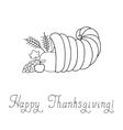 Thanksgiving Day Cornucopia vector image