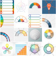 16 templates Infographics cyclic processes text ar vector image vector image