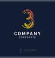 3 company logo design vector image