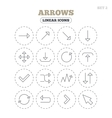 Arrow download refresh and fullscreen symbols vector image vector image