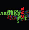 aruba auto rentals text background word cloud vector image vector image