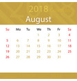 august 2018 calendar popular premium for business vector image vector image
