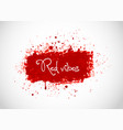 big bright red blood grunge splash on white vector image vector image