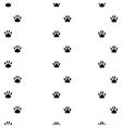 Black footprints of dogs seamless track vector image vector image