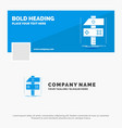 blue business logo template for build craft vector image