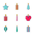 candlelight icons set cartoon style vector image vector image