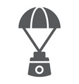 capsule parachute glyph icon space exploration vector image vector image