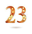 celebrating of 23 years anniversary vector image vector image