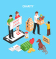 charity isometric composition vector image vector image