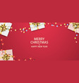 christmas composition with gifts and garlands vector image vector image
