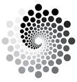 Circular spiral pattern vector image vector image