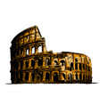 coliseum italy attractions vector image
