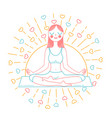 concept of yoga inear style vector image vector image