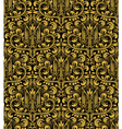 Damask seamless pattern repeating background Gold vector image vector image