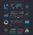 data visualisation charts and diagrams vector image vector image