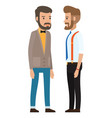 dresscode stylish businessman cartoon vector image