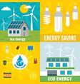 eco energy banner set flat style vector image