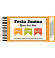 festa junina traditional brazil june vector image vector image