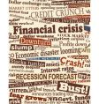 Financial crisis headlines vector | Price: 1 Credit (USD $1)