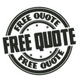 free quote grunge rubber stamp vector image vector image