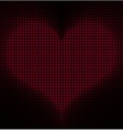 Glowing Heart Background vector image vector image