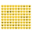 Great set of 99 yellow emotion isolated on white vector image
