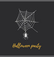 halloween party hand lettering vector image vector image