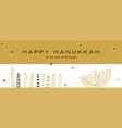 hanukkah greeting banner jewish holiday symbols vector image vector image