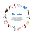 ice hockey competition concept banner card circle vector image vector image
