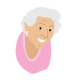 isolated old woman grandmother vector image vector image