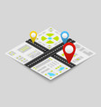 isometric city map concept vector image vector image