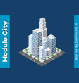 isometric of the modern city vector image vector image