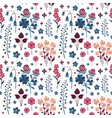 meadow wild flowers and herbs botanical pattern vector image vector image